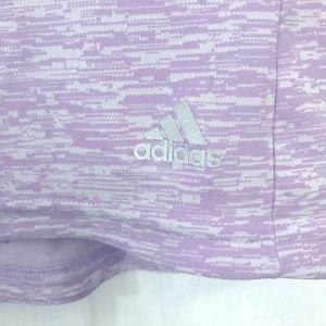 Racerback purple marl adidas running tank top sz S